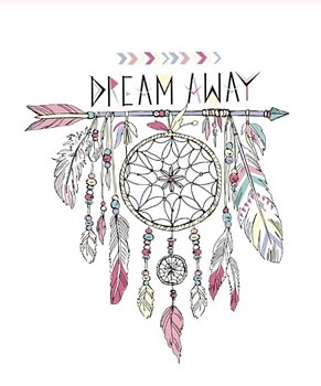 Dekal, dream away (liten)