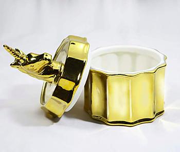 Smyckeskrin i guld, unicorn