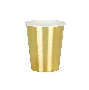 Pappersmuggar (8 st), guld