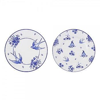 Papperstallrik 27cm (8 st), Party Porcelain Blue Large