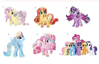 Dekal, my little pony (liten)