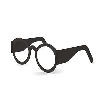 Stående kort, glasögon