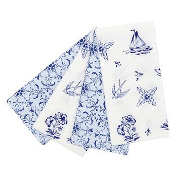 Servetter avlånga (20 st), Party Porcelain Blue