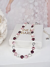 Necklace Swarovski Maya Rose Combo Silver
