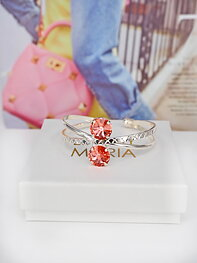 Armband Swarovski X-Shaped Cuff Rose Peach Silver