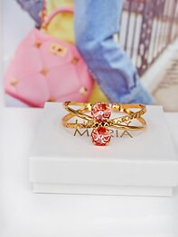 Armband Swarovski X-Shaped Cuff Rose Peach Gold
