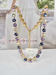 Necklace Swarovski Maya Purple Combo Gold