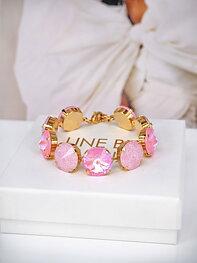 Bracelet Angelina Pink combo Gold