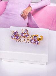 Maya Violet Gold Jewelry Set