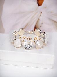 Bracelet Angelina White combo Silver