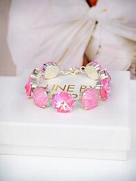 Bracelet Angelina Pink combo Silver