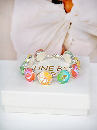 Bracelet Angelina Pastel combo Silver