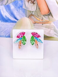 Earrings Lola Multi combo Silver