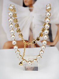 Necklace Swarovski Maya White Pearls Gold