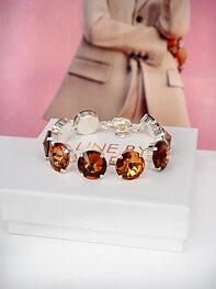 Bracelet Angelina Smoked Topaz combo Silver
