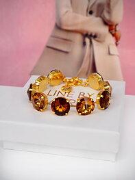 Bracelet Angelina Smoked Topaz combo Gold