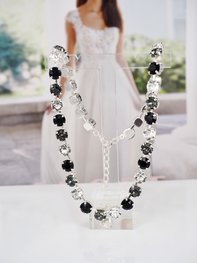 Necklace Swarovski Maya Black Combo Silver