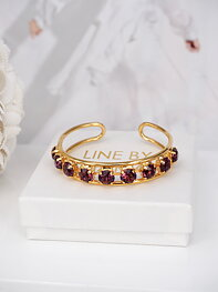 Cuff Bracelet Elena Amethyst Ignite Gold