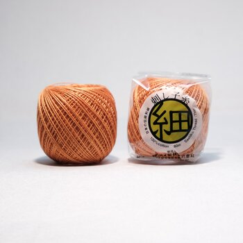 Thin Sashiko thread 204 - Orange