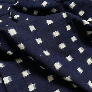 Cottontail Navy Indian Cotton