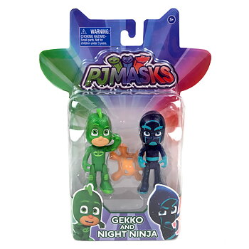 Pyjamashjältarna Gekko och Night Ninja Figurer