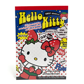 Hello Kitty Block Strawberries