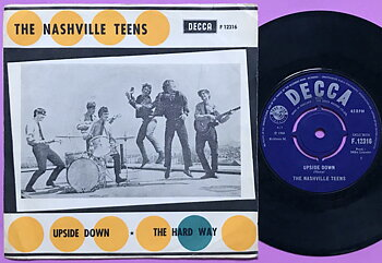 NASHVILLE TEENS - Upside down Swe PS 45 1966