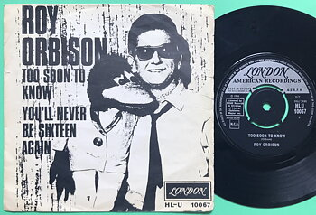 ROY ORBISON - Too soon to know Swe PS 1966