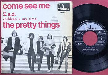 PRETTY THINGS - Come see me +3 Spansk EP 1966
