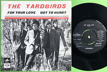 YARDBIRDS - For your love Röd Swe PS 1965