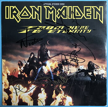 """IRON MAIDEN - From here to eternity SIGNED 7"""" 1992"""