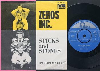 ZEROS INC. - Sticks and stones Swe PS 1965