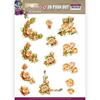 3D Push out -Romantic roses 10516