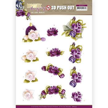 3D Push out -Romantic roses 10517