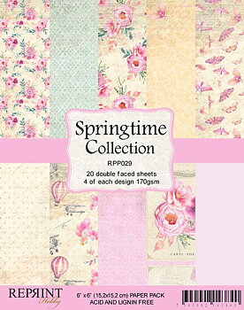 "Reprint paper-Springtime collection-6x6"""