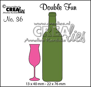 Crealies - dies -  double fun - glas och flaska
