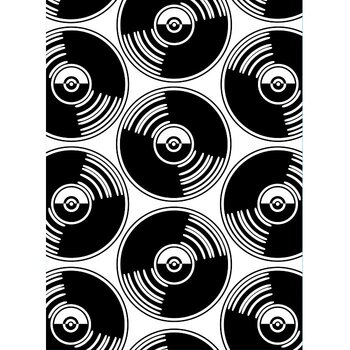 Darice - Embossing folder -records