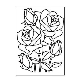 Darice - Embossing folder -Mosaic rose