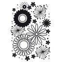 Darice - Embossing folder - flower frency
