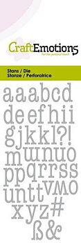 CE -alfabete - små bokstäver - typewriter