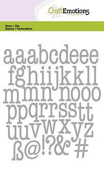 CE -alfabete -små bokstäver - typewriter