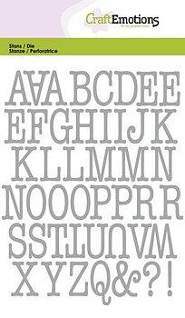 CE -alfabete -stora bokstäver - typewriter