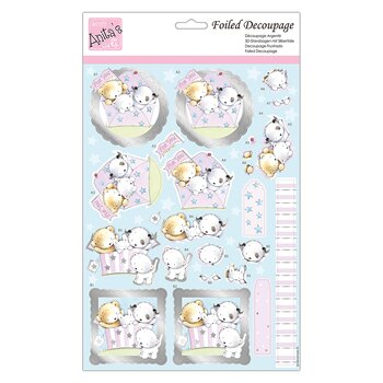 Docrafts Anitas  - push out   med foliering  -Puppy