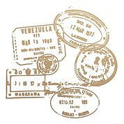 couture creations - mini stamp  - passport stamps