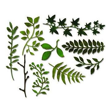 Sizzix Thinlits Die set - garden greens