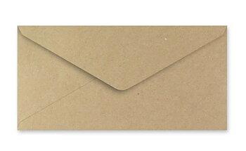 Kuvert - brun - slim 10 pack