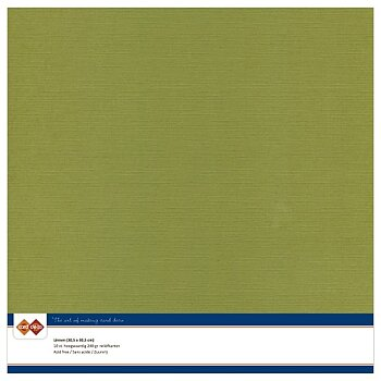 Cardstock - Linnen - olive green 10 pack (card deco)
