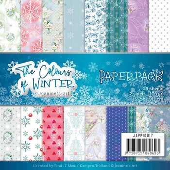 Janines Art  Paperpack - 6x6 - the colours of winter