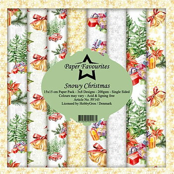 Paper favourites - snowy christmas 6x6
