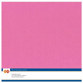 Cardstock - Linnen -Bright pink-10 pack (card deco)